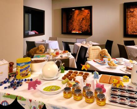 Here at the Best Western Hotel Metropoli 3 stars we love children - that's the buffet designed just for kids.