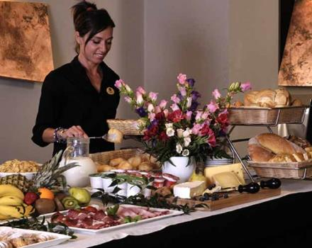 The buffet at the Best Western Hotel Metropoli Genoa is rich of natural and organic products.